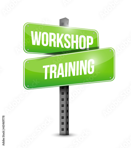 workshop training street sign illustration design