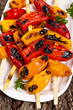 Grilled Mini Sweet Peppers Kebabs