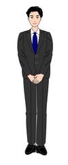スーツの男性、全身