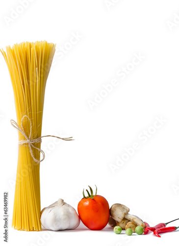 Spaghetti and tomatoes with chilli