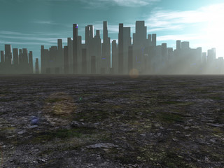 City in barren lands