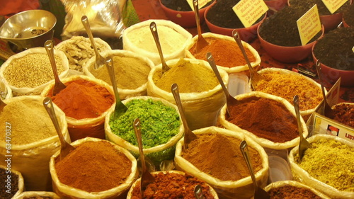 Different spices at Goa market