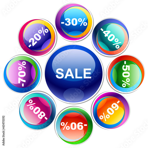 Colorful discount labels 12