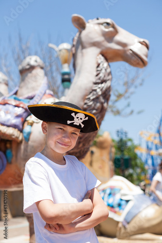 Boy in a pirate hat