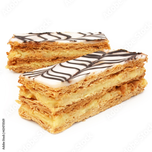 Papiers peints Dessert French pastry - mille-feuille / millefeuille