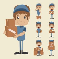 Set of postman
