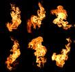 Leinwanddruck Bild - flame