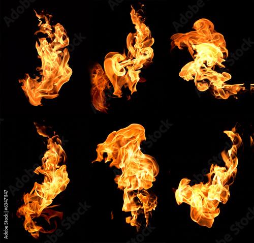 Leinwanddruck Bild flame
