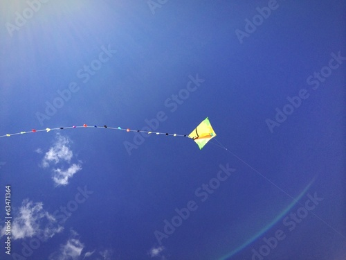 kite in ray of sun
