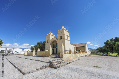 Molinos church on Route 40 in Salta, Argentina.