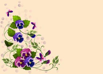 узор из цветов