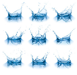 Collection of water splashes.