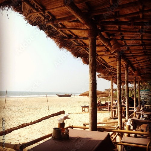 Beach bar, Benaulim, Goa
