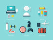 Flat modern design vector for leisure icons