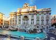Leinwanddruck Bild - Trevi Fountain, rome, Italy.