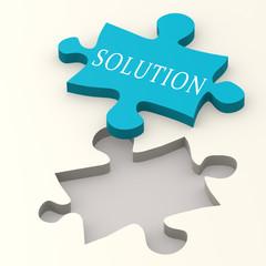 Solution blue puzzle