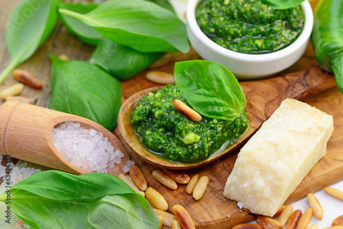 Salz, Pesto, Parmesan