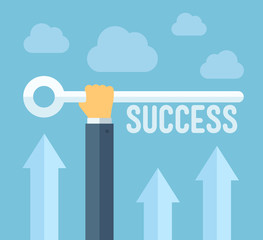 The key to success illustration concept