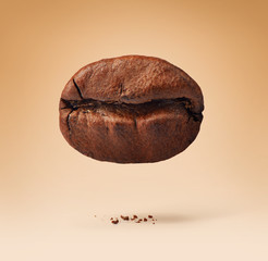 Coffee bean on background