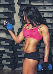 Image of muscle woman