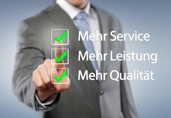 Service, Leistung, Qualität