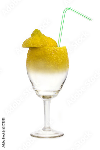 stylized lemon glass