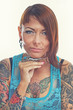 Girl with tattoos.