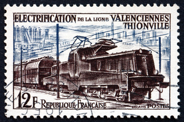 Postage stamp France 1987 Electric Train