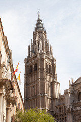 cathedral de Toledo structured in gothic sytle in Toledo, Spain
