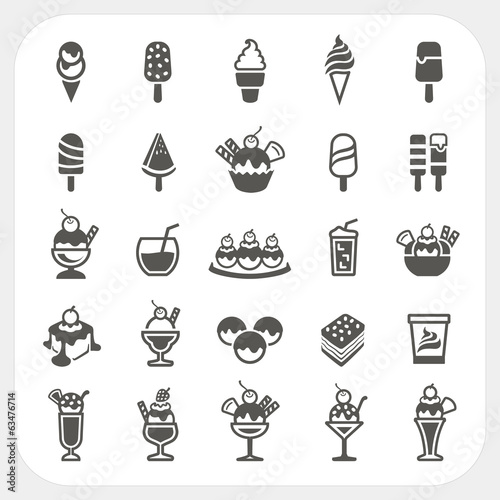 Ice cream icons set