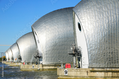 In de dag Dam Thames Barrier