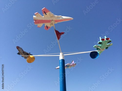 weather vane with clear sky