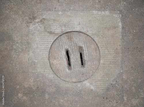 canvas print picture Manhole
