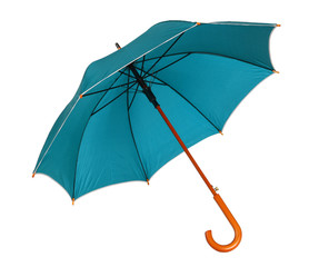 Blue green umbrella