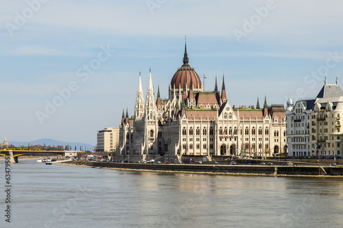 Budapest, Hungary. View of the Parliament building