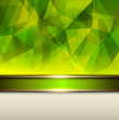 Abstract background, green vector polygons texture