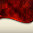 Abstract background, red vector polygons texture