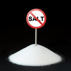 Unhealthy food concept - salt