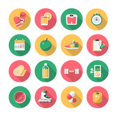 Fitness – Flat Icons