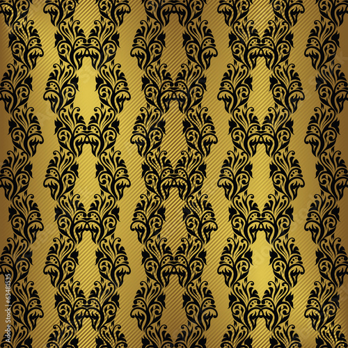 Vintage seamless wallpaper. Striped background