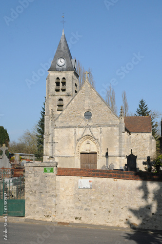 France, the historical church of Villers en Arthies