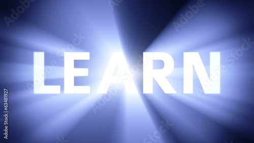 Illuminated LEARN