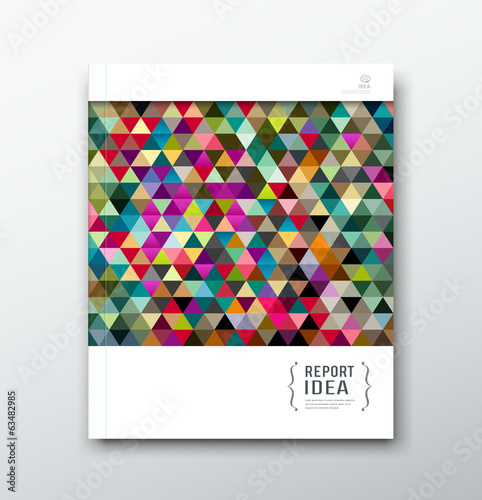 annual report abstract colorful triangle geometric template