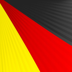 Abstract waving black red yellow ribbon flag
