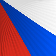Abstract waving red blue white ribbon flag