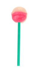 Sweet and tasty lollipop isolated on white background