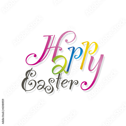 Happy Easter white background