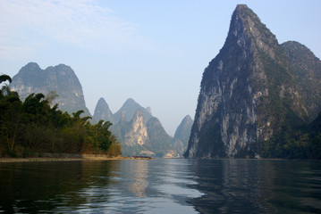 Yu Long river landscape in Yangshuo, Guilin, China