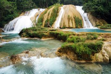 Agua Azul waterfal. Mexico