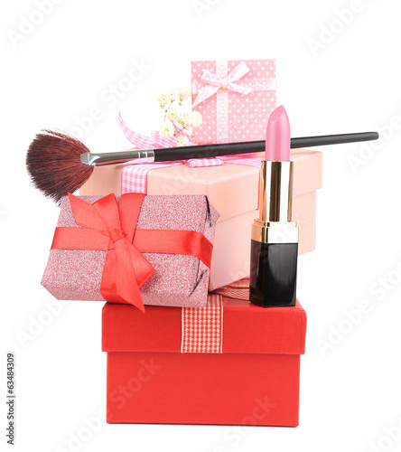 Beauty set gift isolated on white